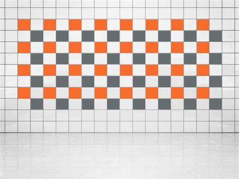 Fliesenaufkleber Grau by Fliesenaufkleber Grau A720 Und Orange A705 20er Set
