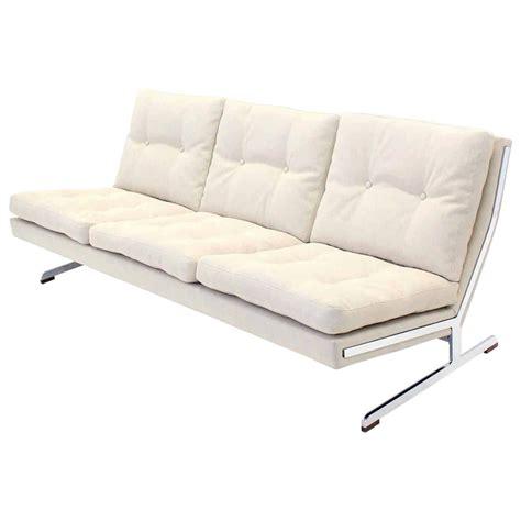 Clean Mid Century Modern A Frame by Mid Century Modern Chrome Frame Sofa New Upholstery 90