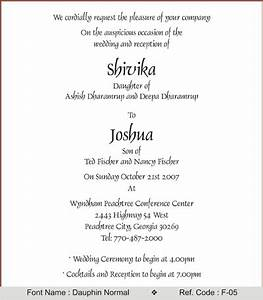 click to view sample With sample wedding invitations fonts