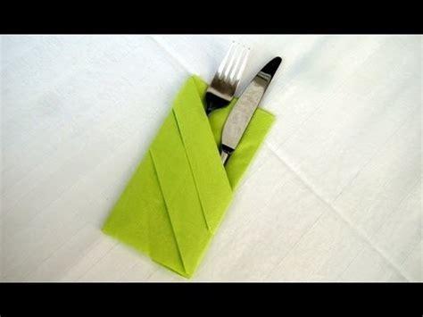 Servietten Als Bestecktasche Falten by Servietten Falten Bestecktasche Falten Einfache Tischdeko
