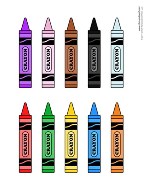 crayon decorations tims printables