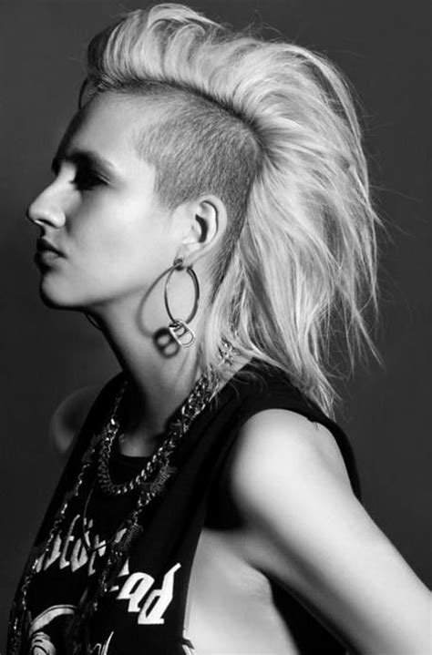 10 stylish girls that really know how to rock a mohawk