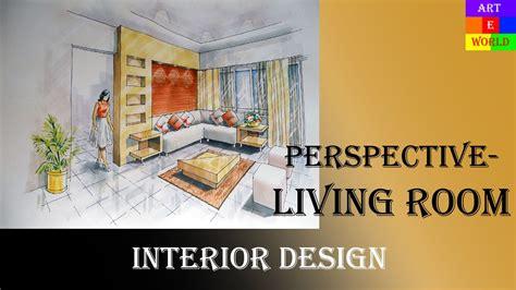 manual rendering  point interior perspective drawing rendering tutorial watercolour