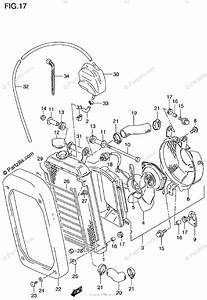 Suzuki Motorcycle 2000 Oem Parts Diagram For Radiator