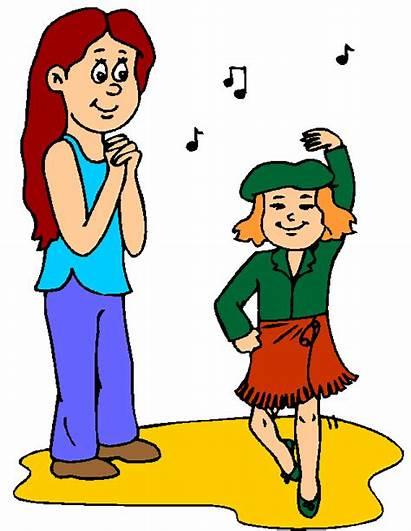 Clipart Dancing Dance Children Singing Talent Kid