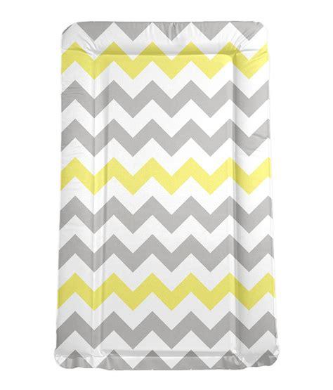 baby change mats my babiie grey and yellow chevron padded changing mat