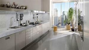 Plan De Travail Cuisine Marbre : un plan de travail en marbre dans la cuisine ~ Melissatoandfro.com Idées de Décoration