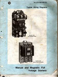 Allen Bradley   Manual And Magnatic Full Voltage Starter Wiring Diagram
