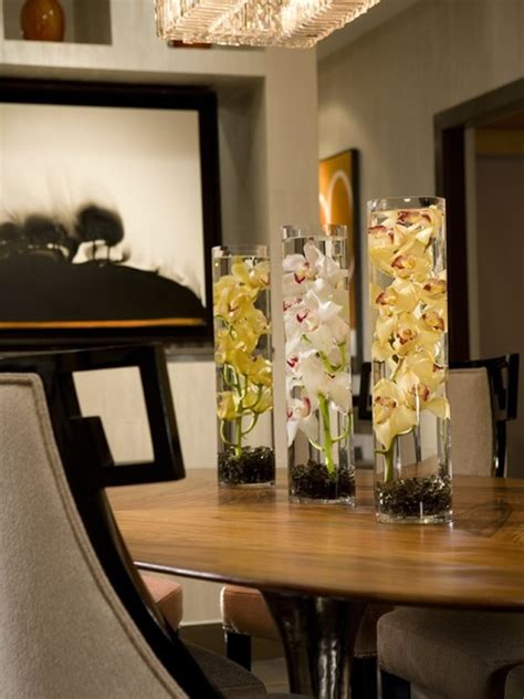 Decorating Ideas For Glass Kitchen Table by How To Decorate Your Home Interior With Orchid Flowers