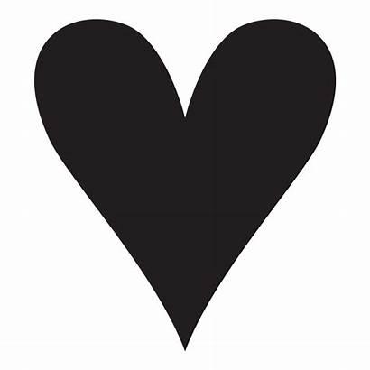 Stencil Hearts Heart Stencils Clip Pointy Clipart