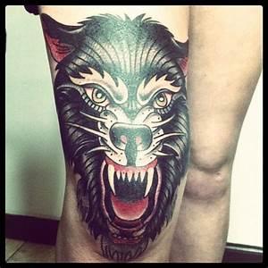 Wolf. I'm in love. | Old school tattoo | Pinterest | Posts ...