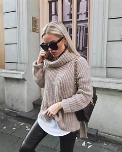 Pullover Trends 2017 : herbst winter ootd lotd fashion trends 2017 18 kuschelige pullover zu leder leggings style ~ Frokenaadalensverden.com Haus und Dekorationen