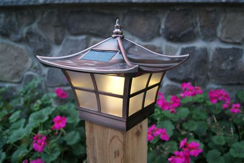 solar deck cap lights 4x4 copper electroplated ambience solar post cap led deck
