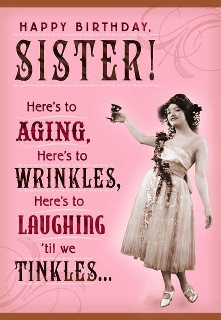 wrinkles  tinkles sister birthday card happy birthday