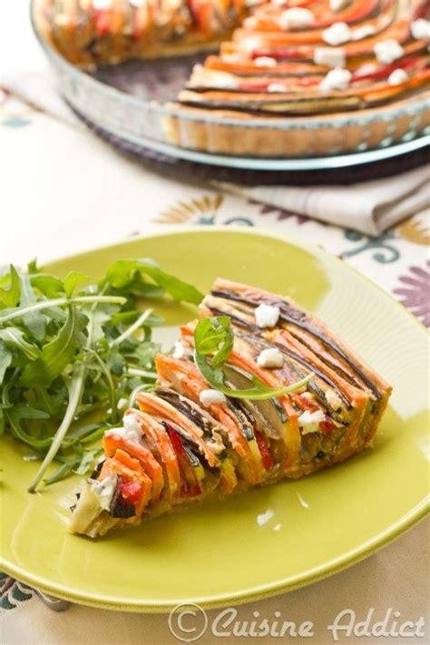cuisine addict zucchini eggplant pepper carrot spiral tart cuisine
