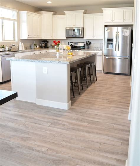 wooden floor for kitchen 30 practical and cool looking kitchen flooring ideas 1619