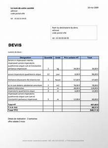 Devis Auto : modele devis auto entrepreneur batiment ~ Gottalentnigeria.com Avis de Voitures