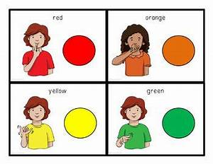Asl Number Chart Asl Sign Language Colors Visual Flashcard Dictionary