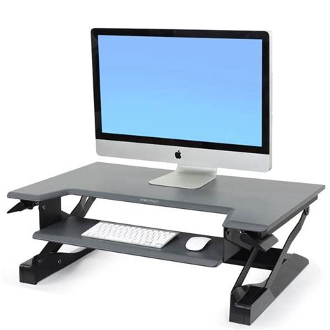 ergotron sit stand desk adjustment ergotron workfit t sit stand desktop workstation black