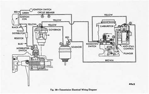 1955 Thunderbird Overdrive Wiring Diagram by M6 Gyromatic Or Tip Toe Transmission Individual Member