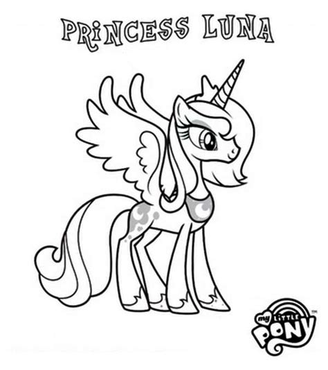 pony coloring pages baby luna