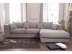canape d39angle en coton et lin avec grande meridienne With grand canape d angle 12 places