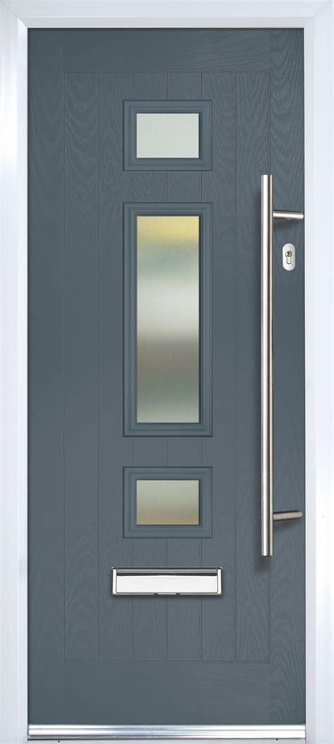 composite grey pvcu grp glazed external front door