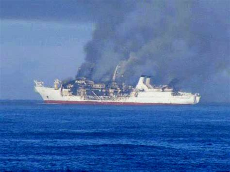 Ship Optc by Legendary Fiber Optic Cable Ship Burns To A Crisp On