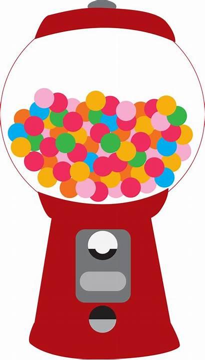 Gum Bubble Machine Gumball Clipart Candy Clip