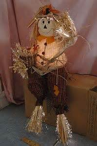 avon fiber optic frankie scarecrow orig box fall