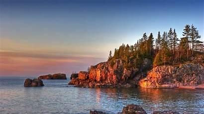 Minnesota Desktop Shore Wallpapers Water Beaches Sky