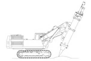 earth drill excavator coloring page  printable