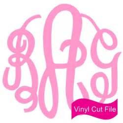SVG Vinyl Circle Monogram Font Free Download