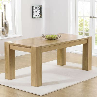 Tamia Solid Oak 180cm Dining Table  Robson Furniture