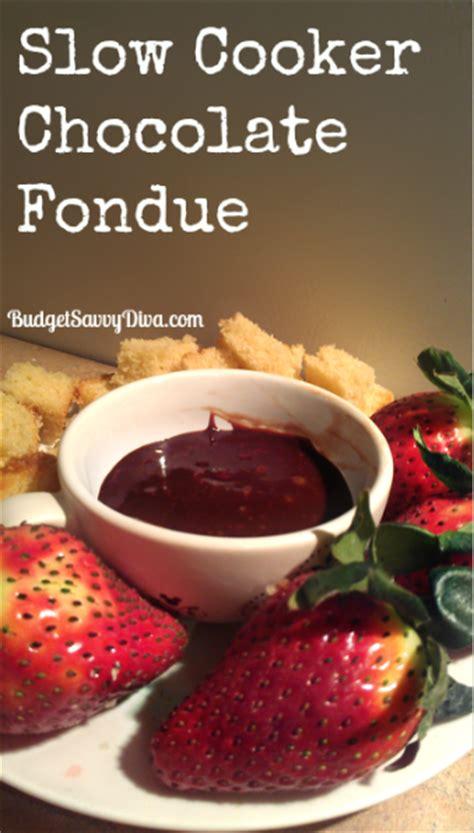 crock pot fondue chocolate cooker chocolate fondue recipe budget savvy