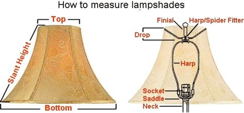 how to measure a l shade lamp shade estructure on pinterest l shades