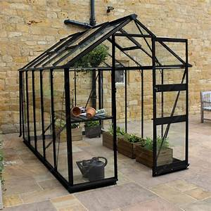 Serre Acier Verre : serre de jardin 6 17m en verre tremp burford noire eden ~ Premium-room.com Idées de Décoration