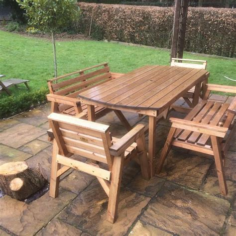 style solid wood garden patio furniture set  ft