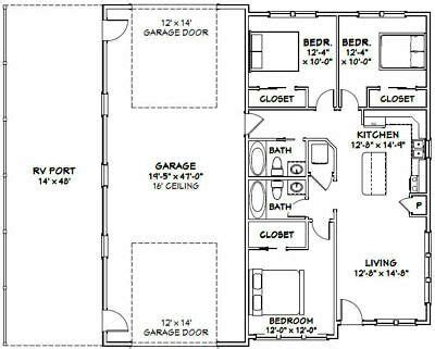 Looking for barndominium floor plans to maximize the living space or work area of yours? Pole Barn House Plans With Rv Garage   Minimalist Home ...