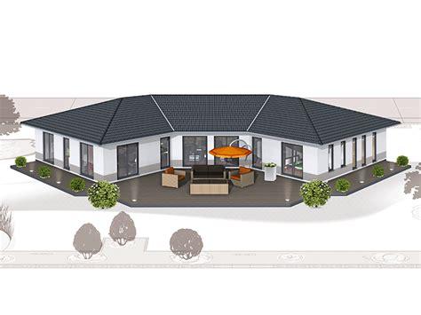 Großer Bungalow Grundriss by Wohnfl 228 Che 213qm 6 Zimmer Massivhaus Modernes Haus