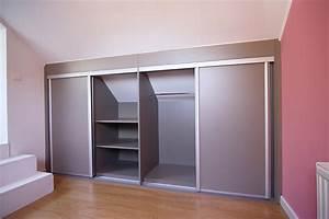 conception et installation de placard sous pente a With creer un placard avec portes coulissantes