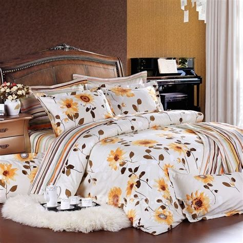 white  yellow sunflower bedding sets enjoybeddingcom