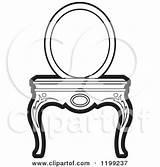 Vanity Mirror Clipart Table Royalty Illustration Vector Perera Lal Rf Illustrations sketch template