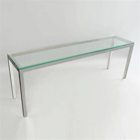 glass and chrome sofa table vintage chrome and glass console sofa hall table long