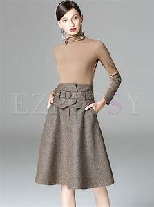 Vintage Color-blocked Waist Two-piece Outfits | Ezpopsy.com