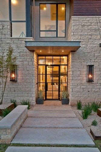 industrial style entry cast iron front door