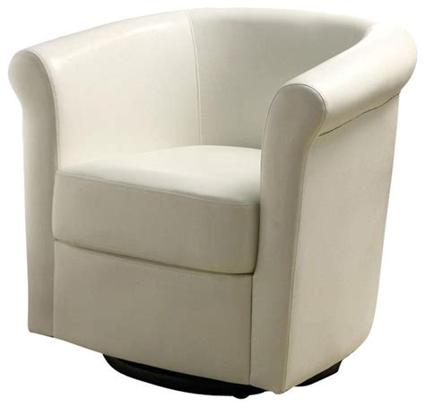 coaster club chair in white faux leather transitional