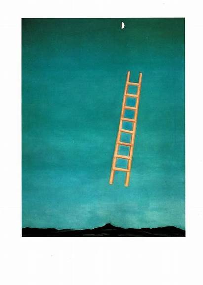 Georgia Keeffe Ladder Moon Bookplate Okeefe Actual