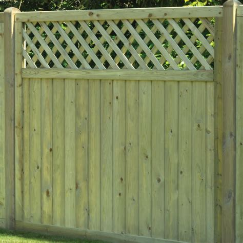 tongue groove boarded fence panel lattice top