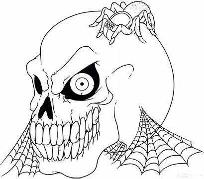 Coloring Pages Halloween Creepy Scary Colouring Spooky